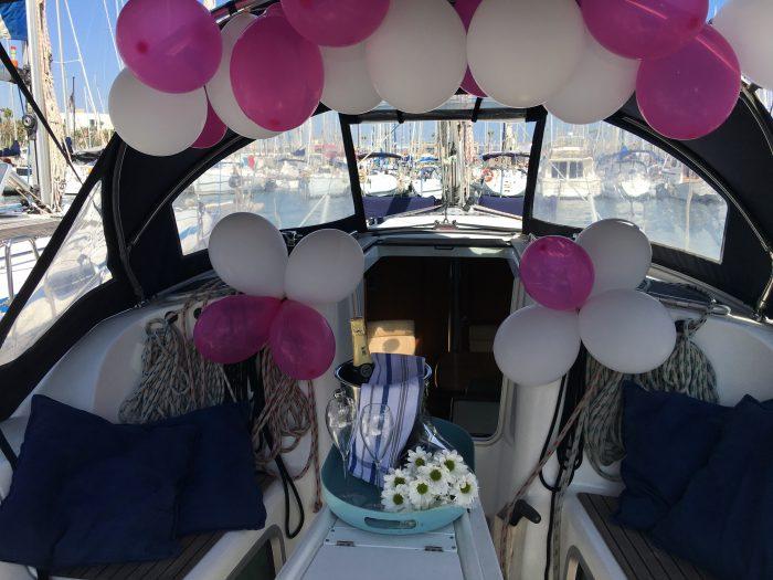cumpleaños en barco en barcelona