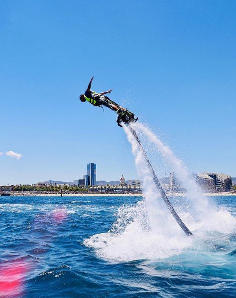 flyboard activity in barcelona