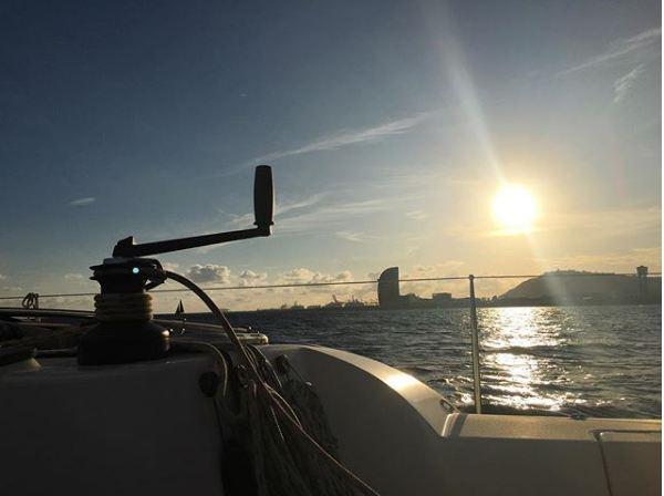 sunset barcelona boat