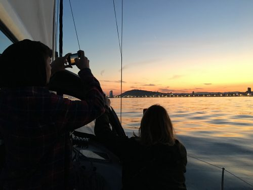 sunset sailing trip barcelona