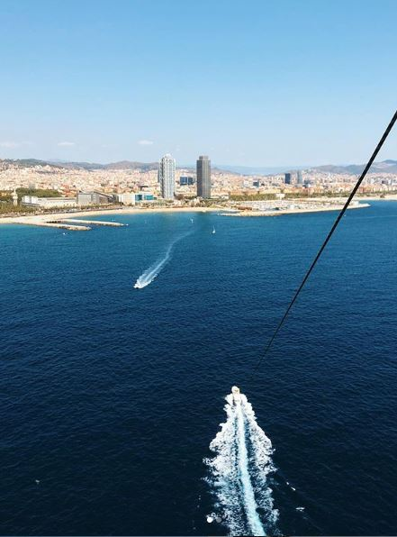 views from parasailing barcelona